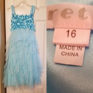 Teal blue girls dress
